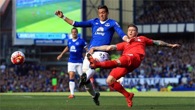 Alberto Moreno (phải) của Liverpool