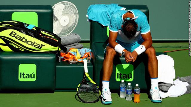 Nỗi thất vọng của Nadal (Ảnh: CNN)