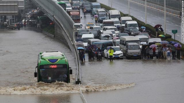 Siêu bão Nepartak đã gây mưa trên diện rộng tại Trung Quốc.