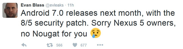 Thông tin rò rỉ do tài khoản Evan Blass chia sẻ trên Twitter