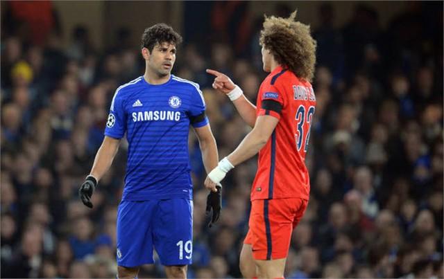 Luiz và Costa từng có va chạm trên sân cỏ