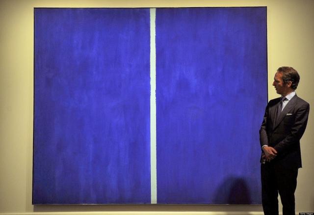 Bức tranh chỉ với hai màu xanh, trắng này của họa sĩ người Mỹ Barnett Newman có giá tới 43,8 triệu USD.