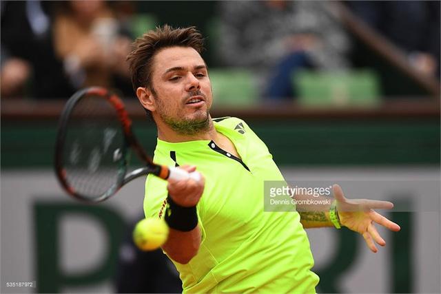 Wawrinka đã giành vé vào tứ kết giải Pháp mở rộng. Ảnh: Getty