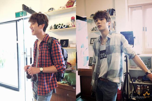 Hình ảnh mỹ nam Kwak Shi Yang vai Kang Gi Chan trên phim trường trong lúc chờ đến lượt quay của mình.