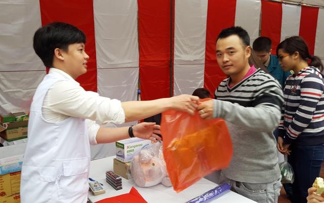 Quà tặng dành cho những người tham gia hiến máu tình nguyện