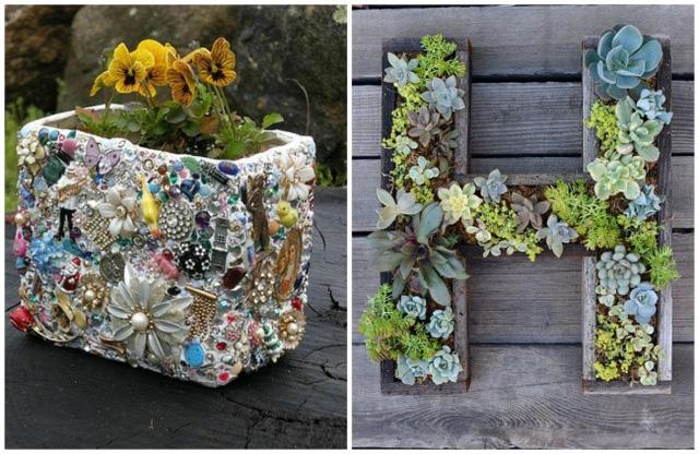 Một thảm hoa đích thực có thể được làm từ bất cứ thứ gì. Ví dụ, bạn có thể thể trang trí bồn hoa với những vật liệu nhỏ hoặc có thể trồng các loài xương rồng và treo chúng lên tường.