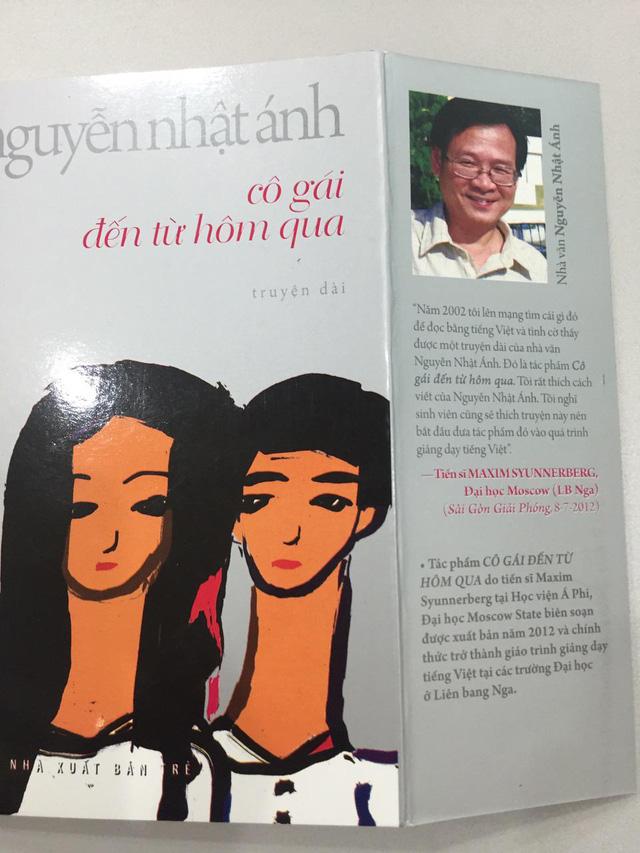 Bìa cuốn sách Cô gái đến từ hôm qua (Ảnh: CJ)
