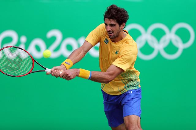 Bellucci đã không thể chế ngự được Rafael Nadal dù có lợi thế sân nhà. Ảnh: Olympic