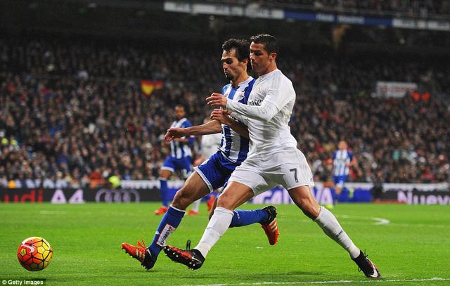 Trái với Bale, Ronaldo đã có một ngày thi đấu đáng thất vọng