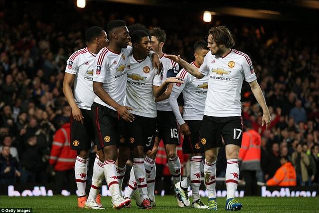 Đối thủ của MU ở bán kết sẽ là Everton (Ảnh: Getty Images)