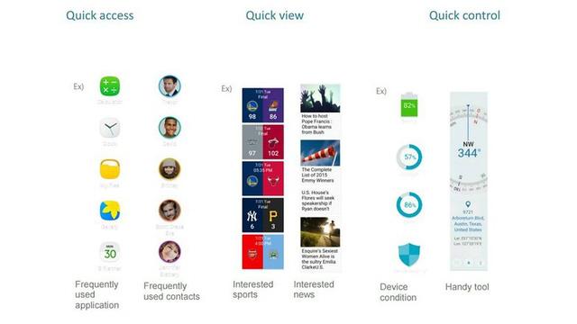 Chế độ rộng trên Galaxy S7 Edge có thể được sử dụng theo 3 cách: Quick Access, Quick View và Quick Control