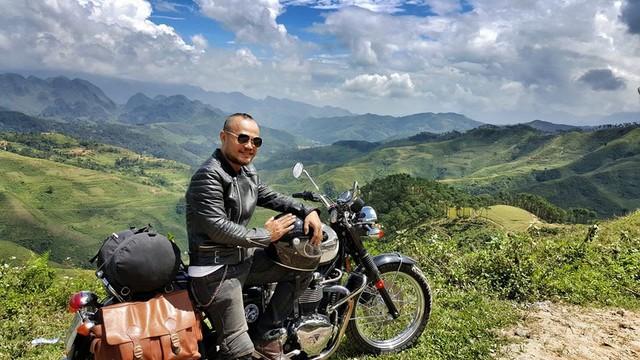 Trần Lập trong chuyến phượt ở Hà Giang hồi tháng 9/2015. Ảnh: TL.