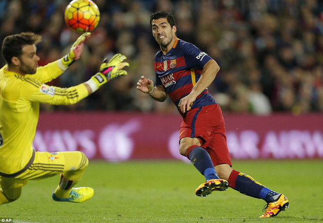 Luis Suarez đã có bàn thắng thứ 39 cho Barcelona trong mùa giải năm nay