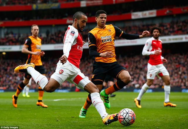 Walcott bất lực trước hàng thủ của Hull City