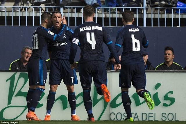 Real Madrid đã trình diễn bộ mặt rất thiếu thuyết phục trước Malaga