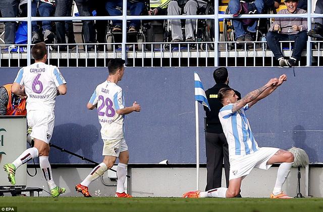 Nếu xét về số cơ hội thành bàn, Malaga xứng đáng giành trọn 3 điểm trước Real Madrid