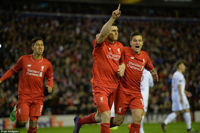 Liverpool cũng giành vé đi tiếp vào vòng 1/16 Europa League
