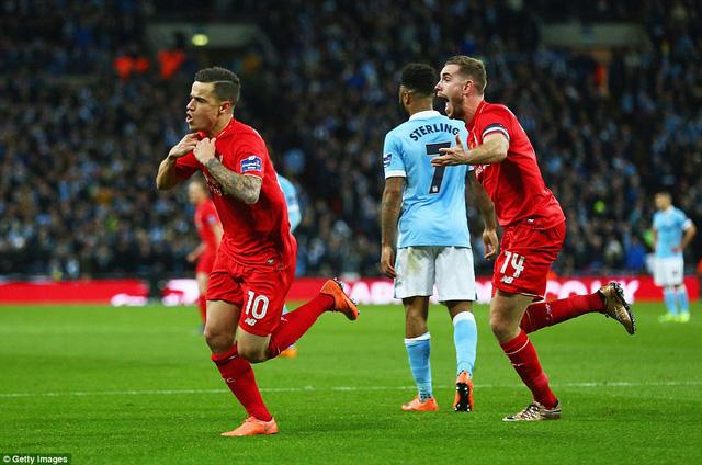 Coutinho thắp lại hy vọng cho Liverpool với bàn gỡ hòa phút 83