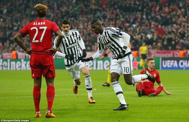 Pogba ghi bàn mở tỷ số giúp Juventus thắp lên hy vọng đi tiếp