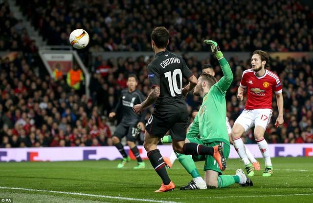 Bàn thắng của Philippe Coutinho đã dập tắt mọi hy vọng của Man Utd