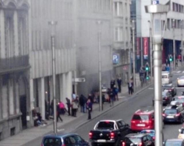 Hình ảnh ghi lại của vụ nổ thứ hai từ camera an ninh.