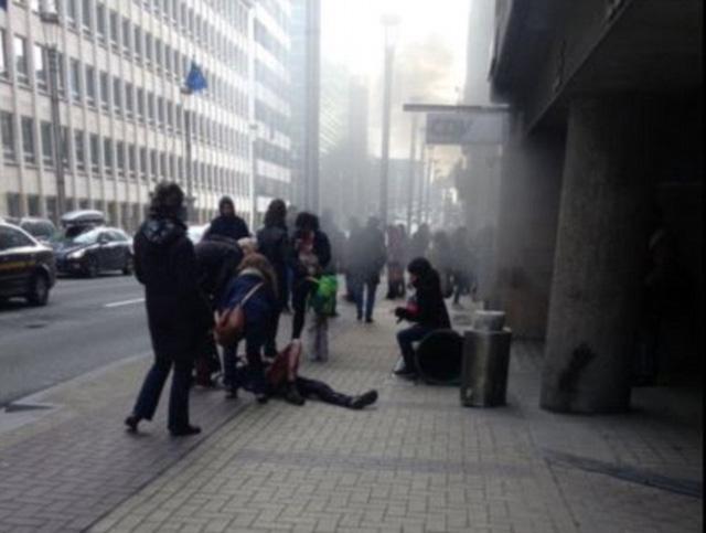 Vụ nổ thứ hai xảy ra sau đó 90 phút ở 1 ga tàu điện ngầm tại thành phố Brussels.