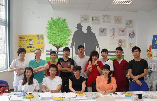 Các học viên của lớp học ở trường Cao đẳng nghề Quốc Tế Hà Nội