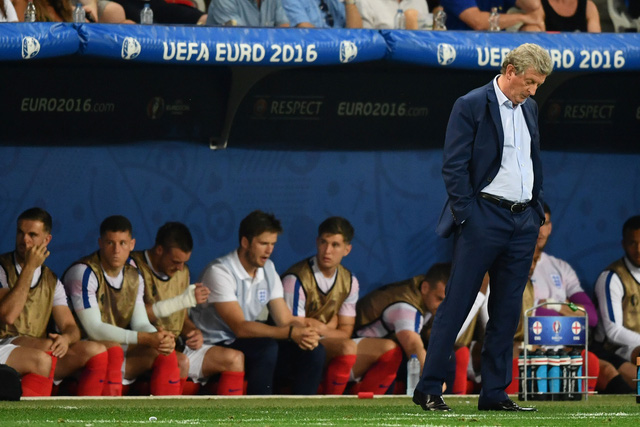 HLV Roy Hodgson đã từ chức ngay sau thất bại của tuyển Anh. Ảnh: UEFA