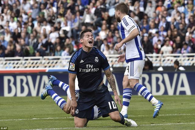 Real Madrid chơi lấn lướt đối thủ nhưng lại tỏ ra thiếu sắc bén trong những tình huống tấn công.