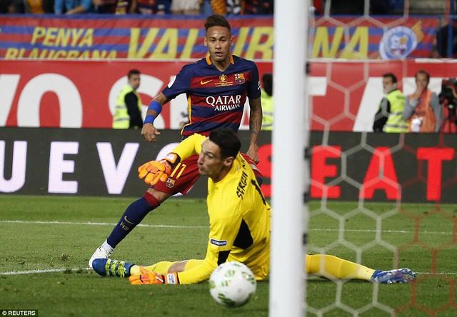 Neymar ấn định chiến thắng 2-0 cho Barcelona ở phút 121