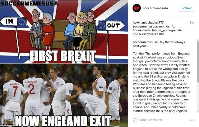 Đầu tiên là Brexit và giờ là ĐT Anh exit