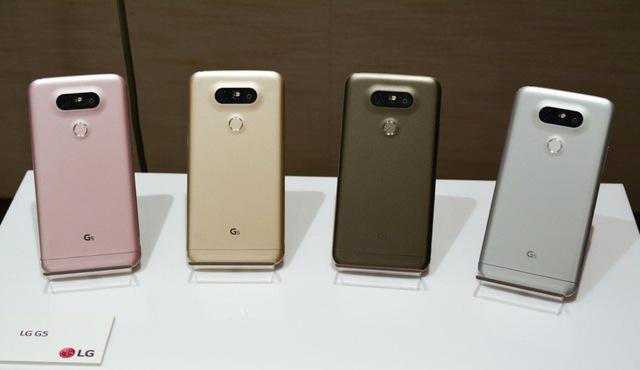 LG G5 sở hữu 4 phiên bản màu sắc khác nhau