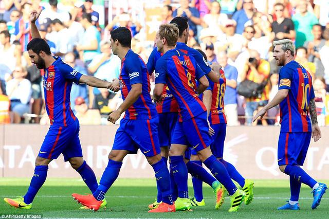Barcelona đã có khởi đầu suôn sẻ trong ngày khai mạc La Liga mùa giải mới. Ảnh: Getty