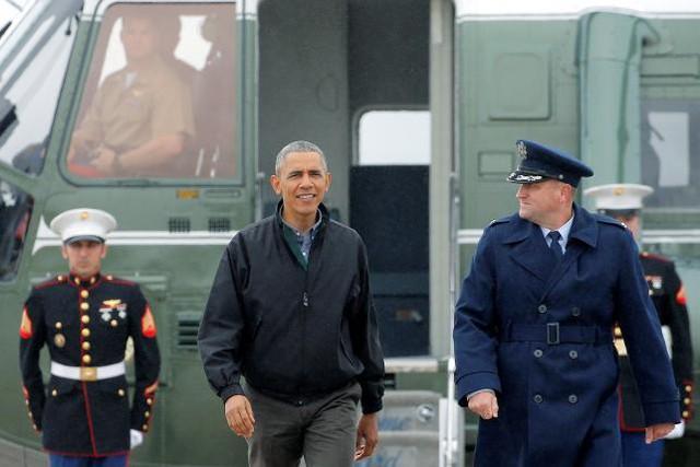 Trước đó, Tổng thống Barack Obama đã xuất phát từ sân bay tại Joint Base Andrews, bang Maryland, Hoa Kỳ ngày 21/5/2016 để bay sang Việt Nam (Ảnh: Reuters)