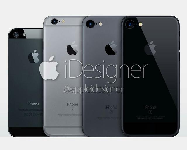 Concept iPhone năm 2017 với tông đen chủ đạo đăng tải trên Instagram của AppleiDesigner