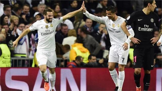 Trở về sân nhà, Real đã đánh bại PSG với tỉ số tối thiểu 1-0 bằng bàn thắng của Nacho.