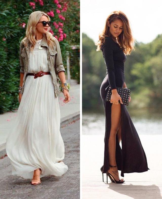Còn gì quyến rũ hơn một quý cô thướt tha trong chiếc váy maxi với đôi giày cao gót nữ tính.