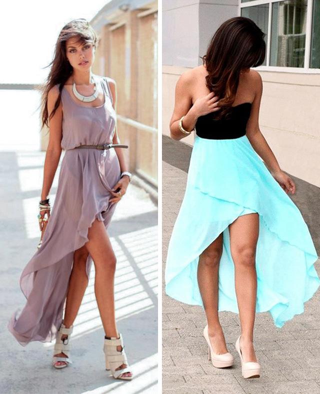 Nếu cảm thấy những chiếc váy maxi bình thường quá nhàm chán, sao bạn không thử những chiếc váy với kiểu dáng high-low này.