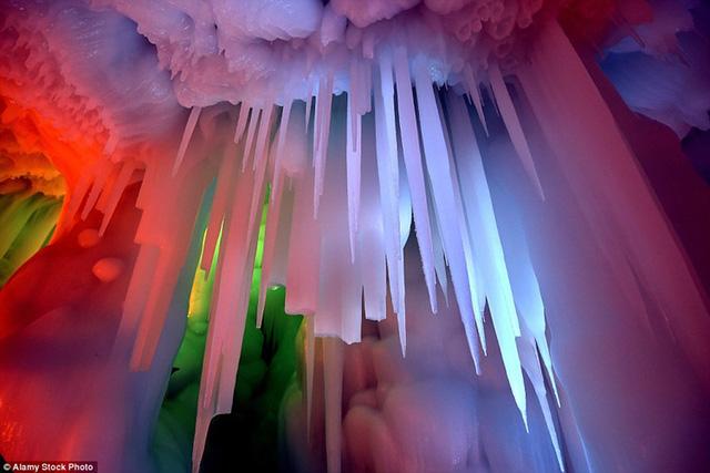 Mỗi tầng trong hang được kết nối bởi hệ thống các cầu thang.
