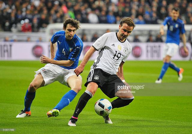 Cuộc đối đầu Đức - Italy rất xứng đáng để chờ đợi và được xem như trận chung kết sớm. Ảnh: Getty