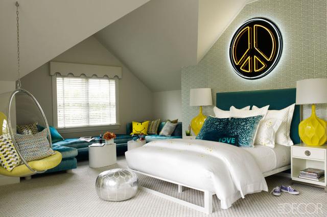 Căn phòng mang phong cách trẻ trung, hiện đại phù hợp với các bạn nhỏ tuổi teen.