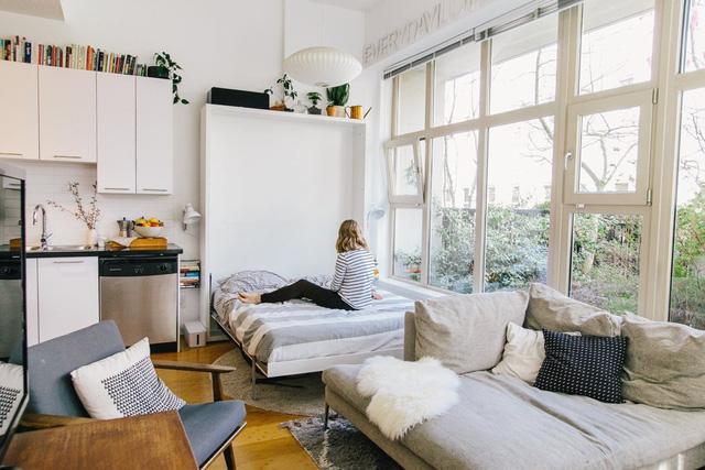 Một căn hộ nhỏ gọn, tiện ích và hiện đại mà vẫn thoáng đãng như này có ai lại không thích chứ nhỉ!