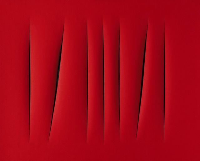 Tác phẩm này của họa sĩ người Italy Concetto Spaziale có giá 1,5 triệu USD.