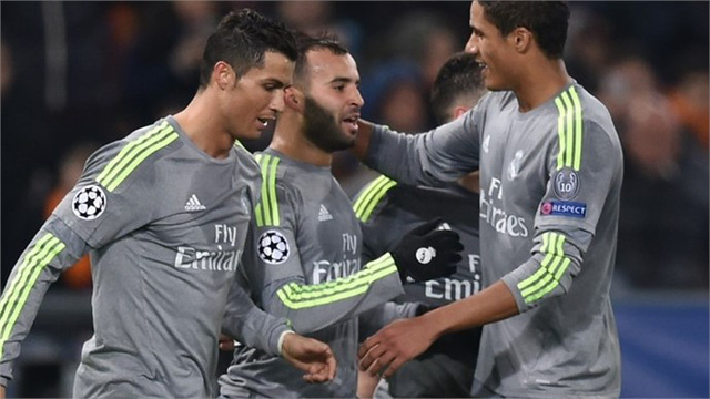 Làm khách trước AS Roma tại vòng 1/8, Real Madrid đã có chiến thắng 2-0 với các bàn thắng của Ronaldo và Jese.
