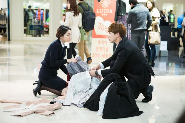 Lee Min Jung và Bi - Rain trong phim Please, Come Back Mister.