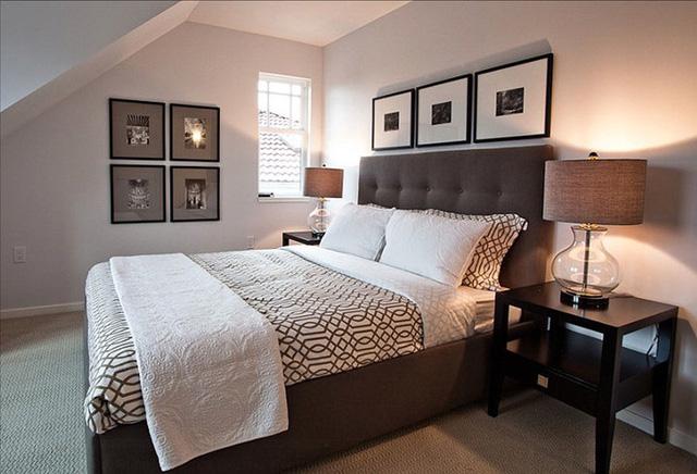 Ý tưởng giường ngủ đơn sắc và các lựa chọn tối giản