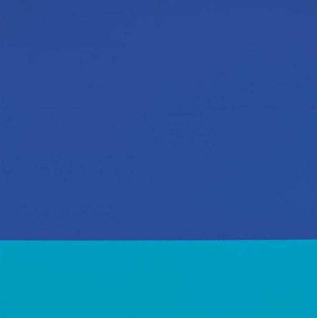 Tác phẩm với gam màu xanh của Blinky Palermo có giá 1,7 triệu USD.