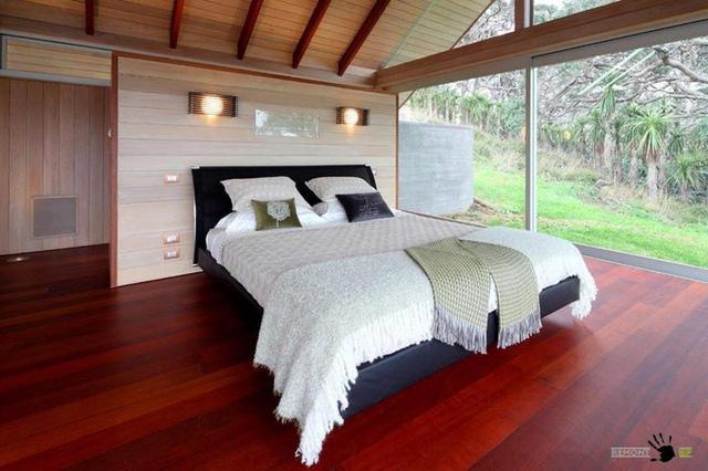 Thiết kế phòng ngủ tối giản, không có quá nhiều vật dụng, đồ trang trí.