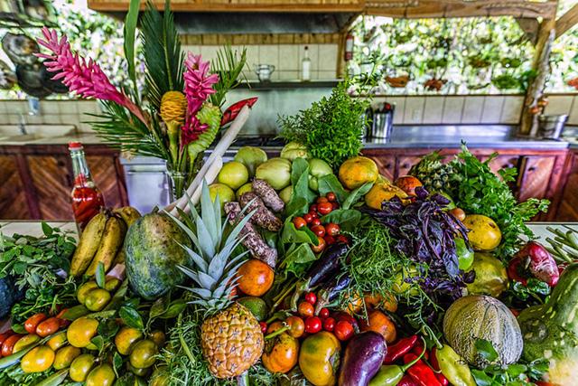 Cư dân ở đây tự trồng rau và hoa quả. Các vị khách du lịch cũng có một khu vườn nhỏ để có thể chăm sóc cây trồng.