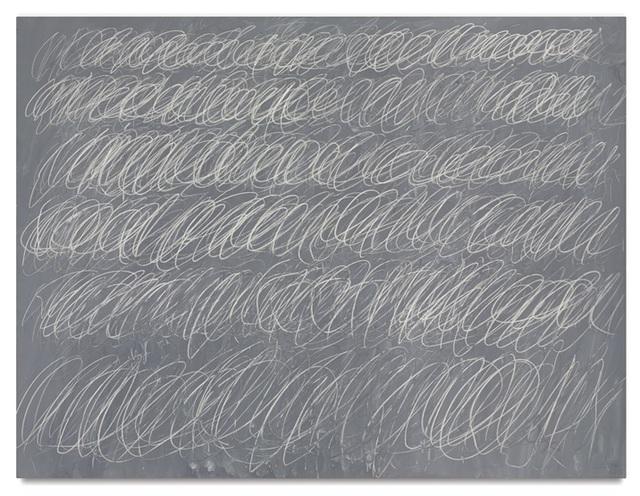 Bức tranh ngoằn nghèo này của họa sĩ Cy Twombly có mức giá khó tin là 69,6 triệu USD.